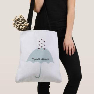 Sprinkle Love Pink & Teal Blue Shower Tote Bag