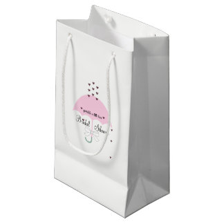 Sprinkle Love Pink & White Shower Party Gift Bag