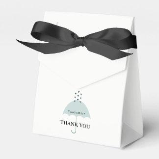 Sprinkle Love Powder Blue Shower Favor Boxes