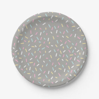 Sprinkle Party Plate (grey)
