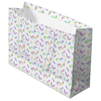 Sprinkle pattern large gift bag