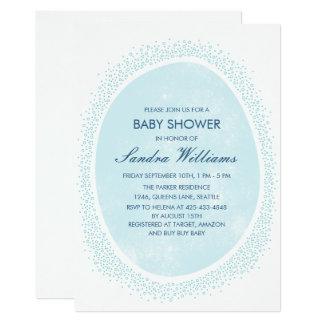 Sprinkled baby shower invitation - Mist