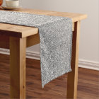 Sprinkled SIlver Glitters. Long Table Runner