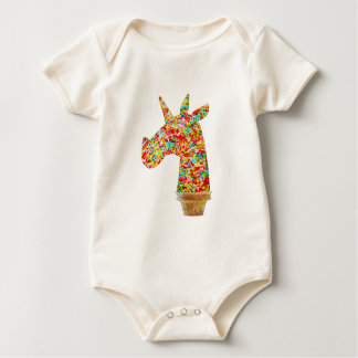 Sprinkled Unicorn Ice Cream Baby Bodysuit