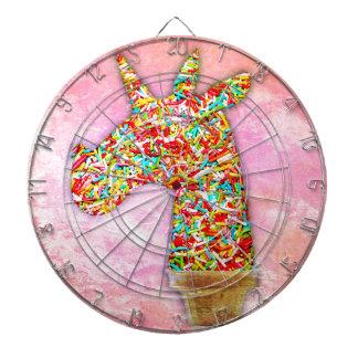 Sprinkled Unicorn Ice Cream Dartboard