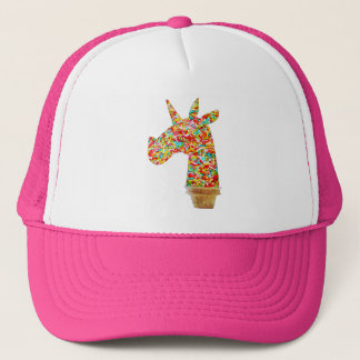 Sprinkled Unicorn Ice Cream Trucker Hat