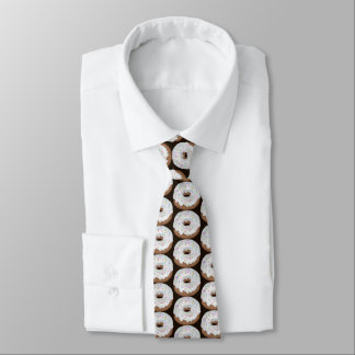 Sprinkled vanilla iced doughnut tiled shop tie