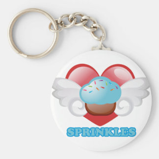 SPRINKLES BASIC ROUND BUTTON KEY RING