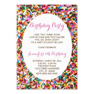 Sprinkles Birthday Party 13 Cm X 18 Cm Invitation Card