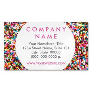 Sprinkles Business Card Magnet