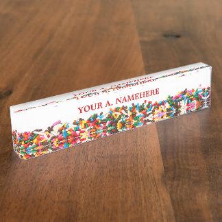 Sprinkles Desk Nameplate