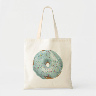 Sprinkles Doughnut with Blue Frosting. Tote Bag