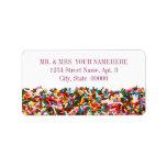 Sprinkles-Filled Address Labels