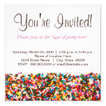 Sprinkles-Filled Party Invitation
