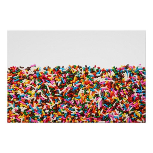 Sprinkles-Filled Poster