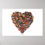 Sprinkles Heart Poster