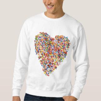 sprinkles heart sweatshirt