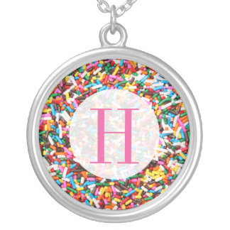 Sprinkles Monogrammed Silver Plated Necklace