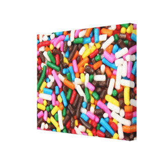 Sprinkles Wrapped Canvas
