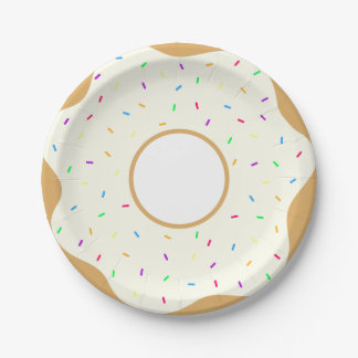 Sprinkly Donut Paper Plate