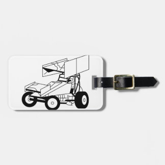Sprint Car Outline Tags For Luggage