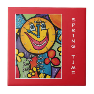 Sprint Time On Red  - Time Pieces Tile