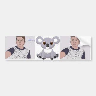 sprite and sagging koala bumper sticker