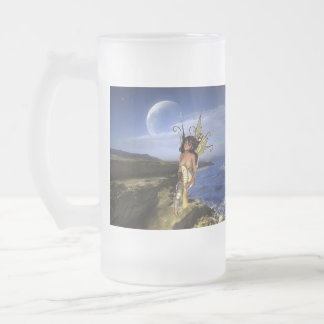 Sprite Contemplation Frosted Glass Beer Mug
