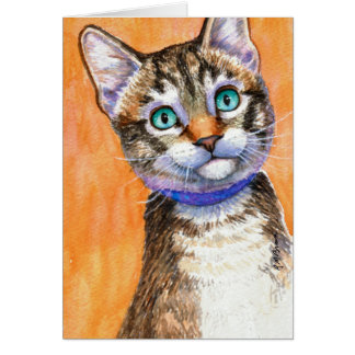 Sprite Tabby Cat Card