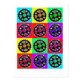 Sprockets POPART--Cyclist Biking Gifts Postcard