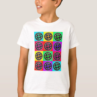 Sprockets POPART--Cyclist Biking Gifts T-Shirt