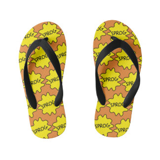 Sprog, Baby, Child, Funny British Slang Flipflops