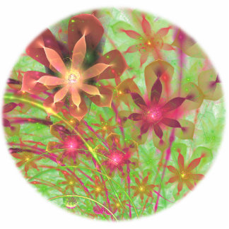 Sproingy Spring Flowers Fractal Art Acrylic Cut Outs