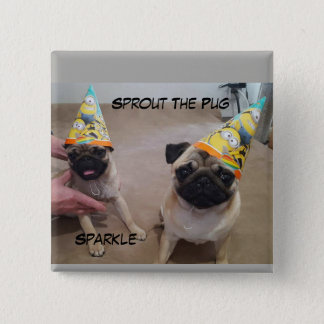 Sprout and Sparkle Party on a Button