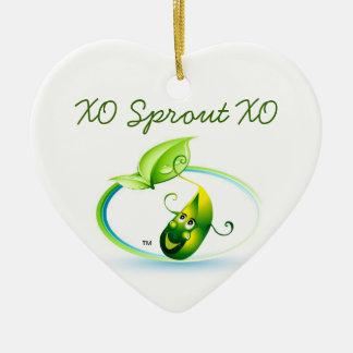Sprout Heart By Pâtisseries Poétique de Muse Ceramic Ornament