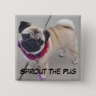 Sprout on a Square Button