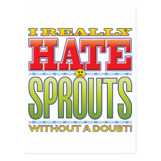 Sprouts Hate Face Postcard