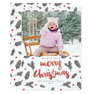 Spruce and Pine Christmas Photo Cards