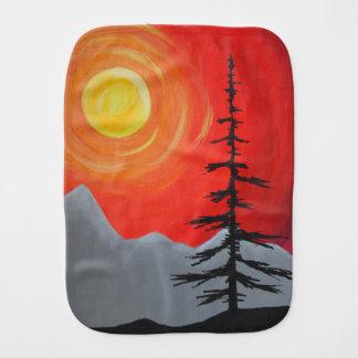 Spruce Sunset Burp Cloth