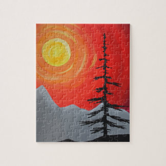 Spruce Sunset Jigsaw Puzzle