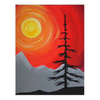 Spruce Sunset Postcard