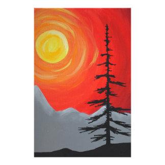 Spruce Sunset Stationery