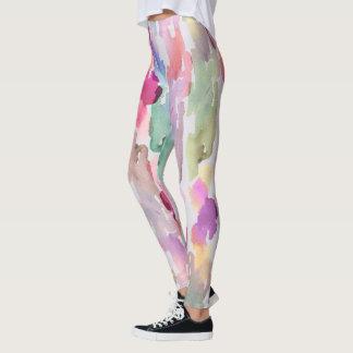 Spun Sugar Watercolor Leggings