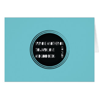 Spur One Another On - Hebrews Card