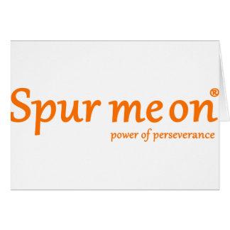 Spurmeon power of perseverance greeting card
