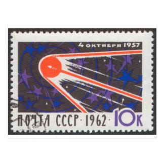 Sputnik 1 5th Anniversary 1962 Postcard
