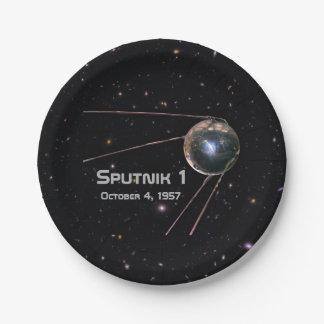 Sputnik 1 Satellite Paper Plate