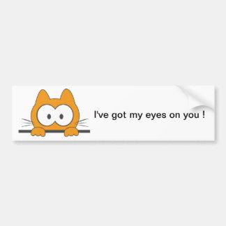 Spy cat bumper sticker