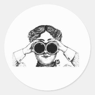 spy girl picture classic round sticker