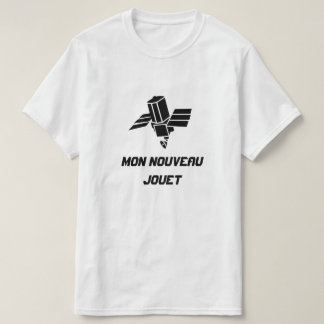 Spy Satellite with text Mon nouveau jouet T-Shirt
